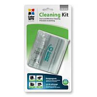 Набор чистящий ColorWay 2в1, для TFT/LCD: спрей 20 мл + салфетка из микрофибры (CW-4111) - для чистки ноутбука, компьютера, монитора и техники