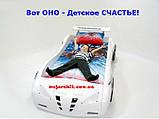 Детская кровать машинка гоночная машина белая F1, фото 4