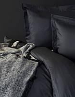 Комплект постельного белья евро Karaca Home Piano сатин   Charme Siyah черный
