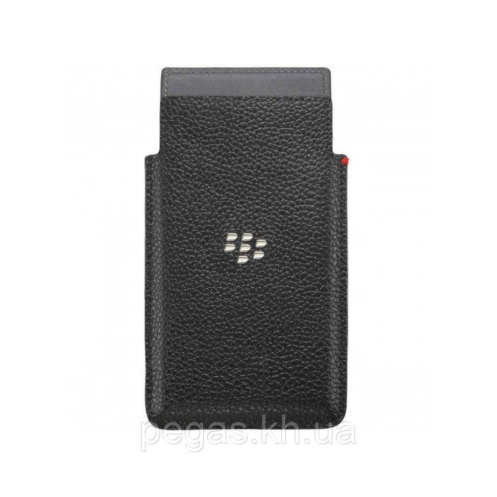 Чехол BlackBerry Z20 Leap карман кожаный черный. Оригинал
