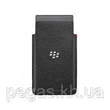 Чохол BlackBerry Z20 Leap кишені шкіряний чорний. Оригінал