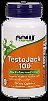 NOW - TestoJack 100 (60 caps) / Комплекс для повышения мужской потенции - ТестоДжек 100