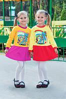 Тепленькое платье на девочку Иванна (86, 98, 110 см), фото 1