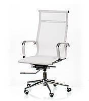 Кресло руководителя, офисное Solano mesh white, сетка, цвет белый