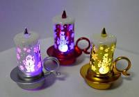 Сувенир Свеча светящаяся LED, 1501, 7 х 3см