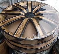 R15 Колпаки на колеса диски для дисков R15 черно / золотые колпак K0365