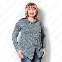 Женская стильная кофта из меланжевого трикотажа