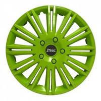 Колпаки на колеса R13 зеленые колпак K0345