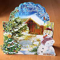 Новое зимнее, новогоднее паспарту, рамка для фото 15х20см