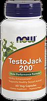 Комплекс для повышения мужской потенции - ТестоДжек 200 / NOW - TestoJack 200 (60 caps)