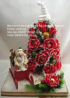 """Праздничная елка из роз и конфет """"Новогодние чудеса"""""""