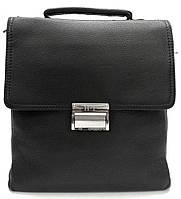 Эксклюзивная кожаная сумка черная с кодовым замком