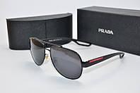 Очки мужские солнцезащитные Prada Авиатор черные