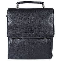 Мужская кожаная сумка из плотной кожи черная с ручкой Lare Boss LB0049611-41