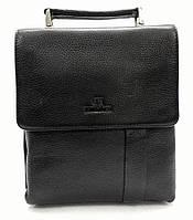 Мужская кожаная сумка из плотной кожи черная с ручкой Lare Boss LB0049560-31