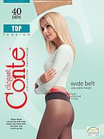 Колготки женские классические без рисунка с низкой заниженной талией Конте CONTE TOP 40 den