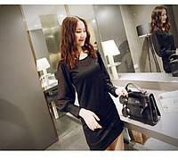РАСПРОДАЖА Элегантное чёрное мини платье рукава шифон