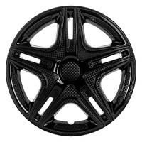 Колпаки на Газель колеса R16 черные 2 выпуклых 2 обычных K0363