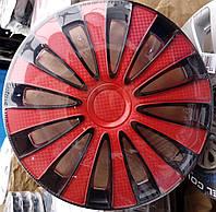 Колпаки на колеса R13 черно / красные колпак K0343
