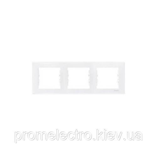 Рамка Schneider-Electric Sedna 3-поста горизонтальная белая SDN5800521