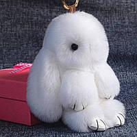 Новогодний Хит! Кролик Брелок из натурального меха 20 см , фото 1