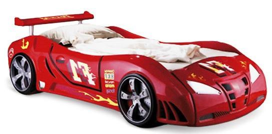 Детская кровать машинка Ферарри машина красная F1