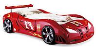 Детская кровать машинка Ферарри машина красная F1, фото 1