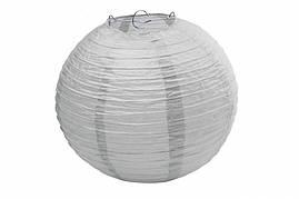 Бумажный подвесной шар серый, 20 см