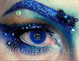 Цветные линзы Crazy Blue 3