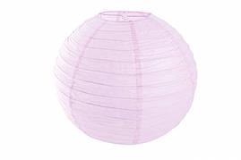 Бумажный подвесной шар светло лавандовый, 20 см