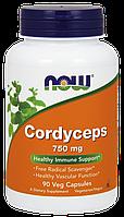 Мощный иммунокорректор - Кордицепс / NOW - Cordyceps 750mg (90 caps)