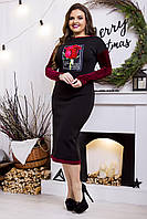 Теплое элегантное платье Роза 3650
