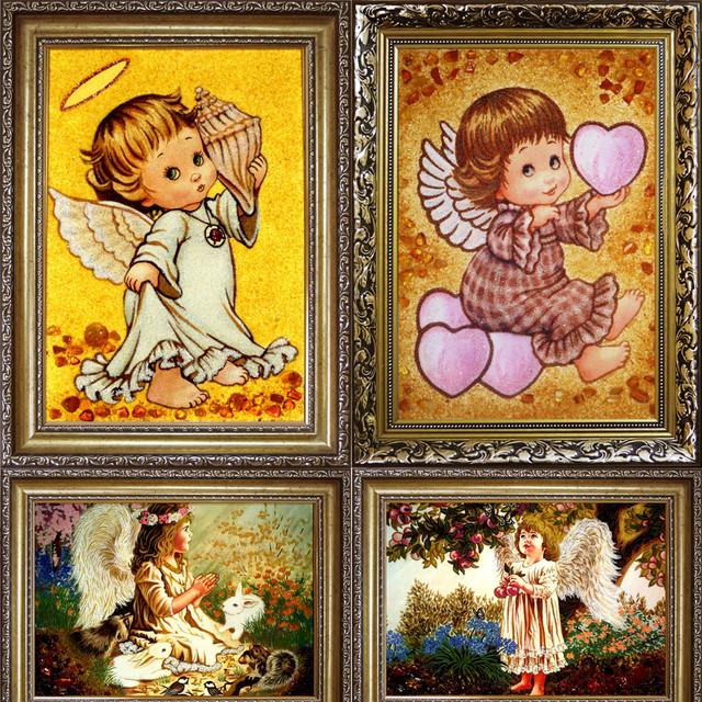 Ангелочки з бурштину