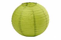 Бумажный подвесной шар оливковый, 20 см