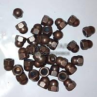 Гайка М6 омеднённая колпачковая нержавеющая ГОСТ 11860-85 (DIN 1587) ТАНТАЛ нержавеющая сталь А2
