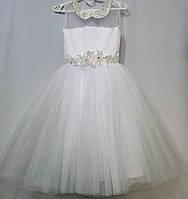 Белое нарядное платье 6 7 лет
