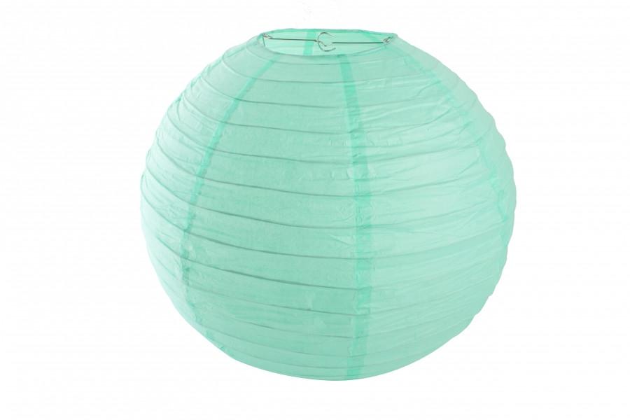 Бумажный подвесной шар мятный, 20 см