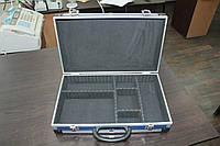 Кейс алюминиевый с перегородками 395*90*240 мм 79k222-S