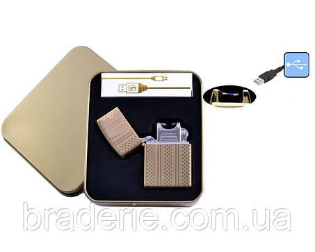 Электроимпульсная USB зажигалка 4706-3, фото 2