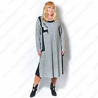 Женское элегантное платье большого размера из ткани ангора софт