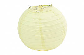 Бумажный подвесной шар молочный, 20 см