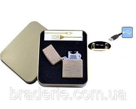 Электроимпульсная USB зажигалка 4706-5, фото 2