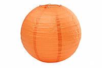 Бумажный подвесной шар оранжевый, 20 см