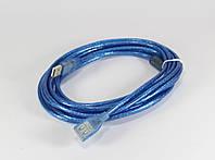 Кабель удлинитель USB синий  мама папа 5м