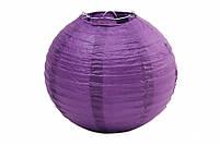 Бумажный подвесной шар тёмно фиолетовый, 20 см