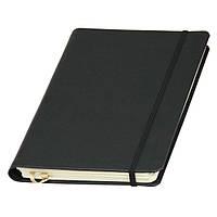 Записная книжка Ivory Line кремовый блок на пружине в линейку, кожзам, черная