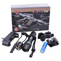 Светодиодный фонарик Bailong BL-Q8455 18000W, XPE под руж.,(велокрепл.)