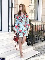 Весеннее стильное цветочное платье