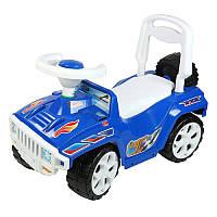 Машинка для катания синяя