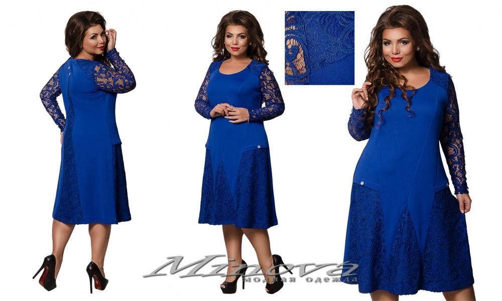 Модное платье батал 54-64 (в расцветках)